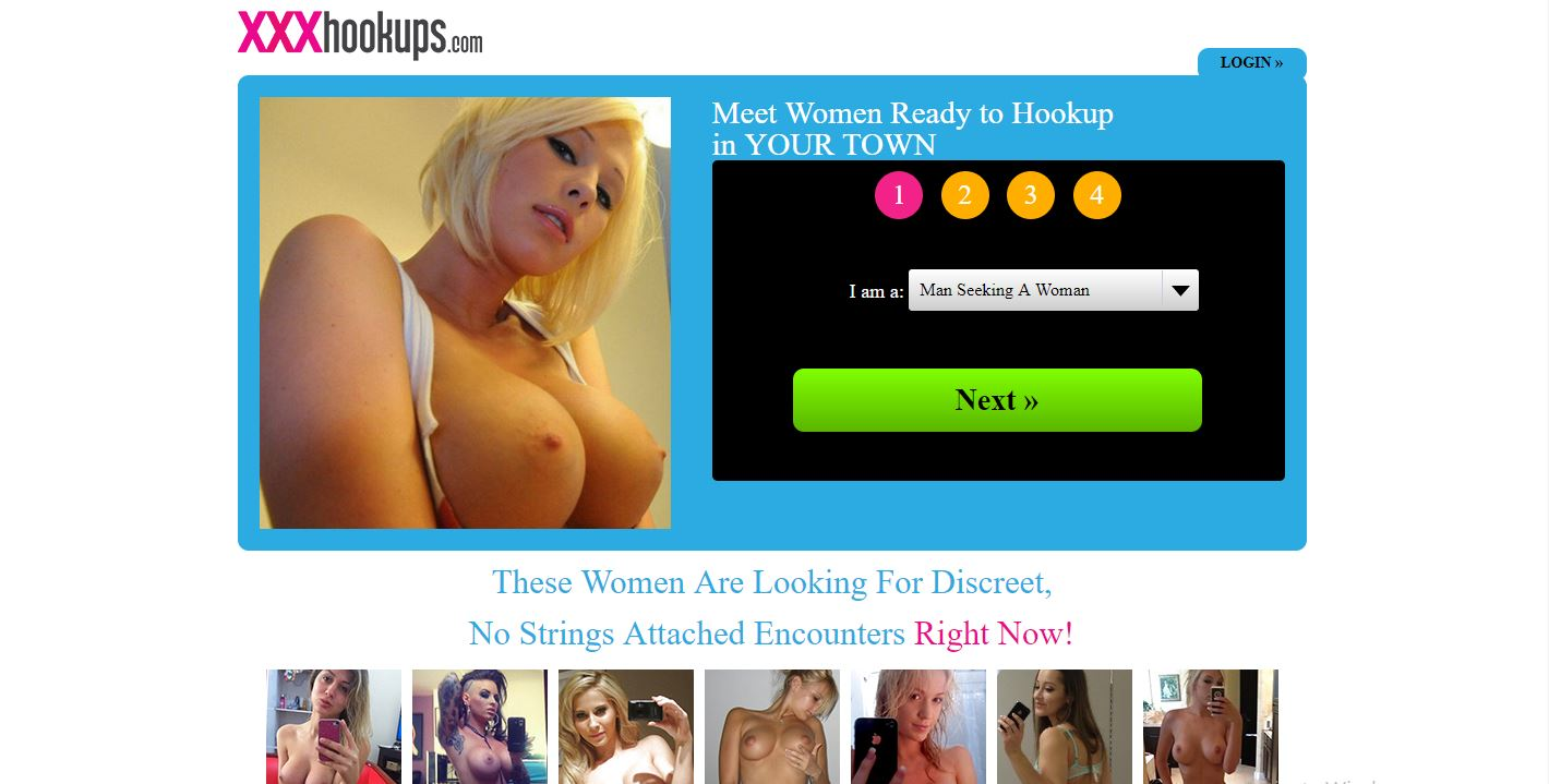 XXXHookups Review home page