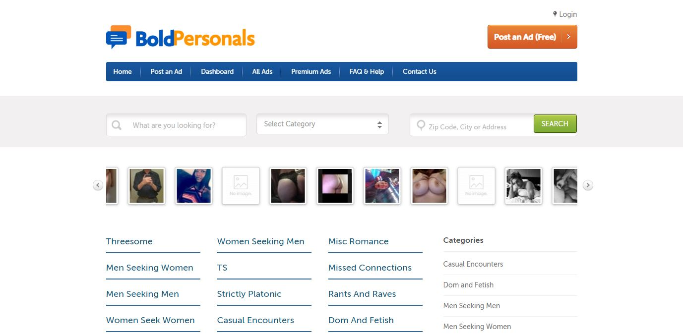 Bold Personals Review home page