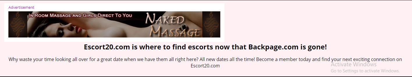 Escort20.com review backpage replacement