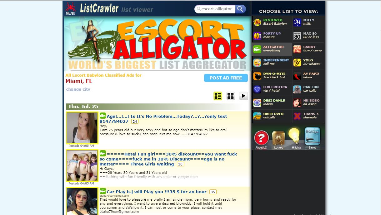 List Crawler review home page