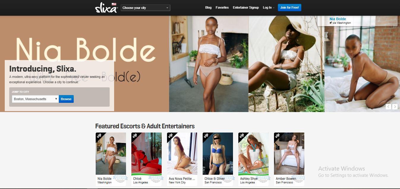 Slixa review home page