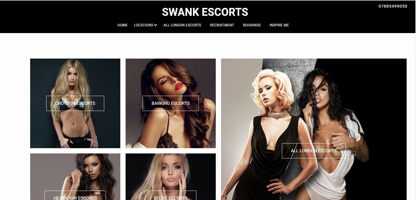 Swank Escorts review home page