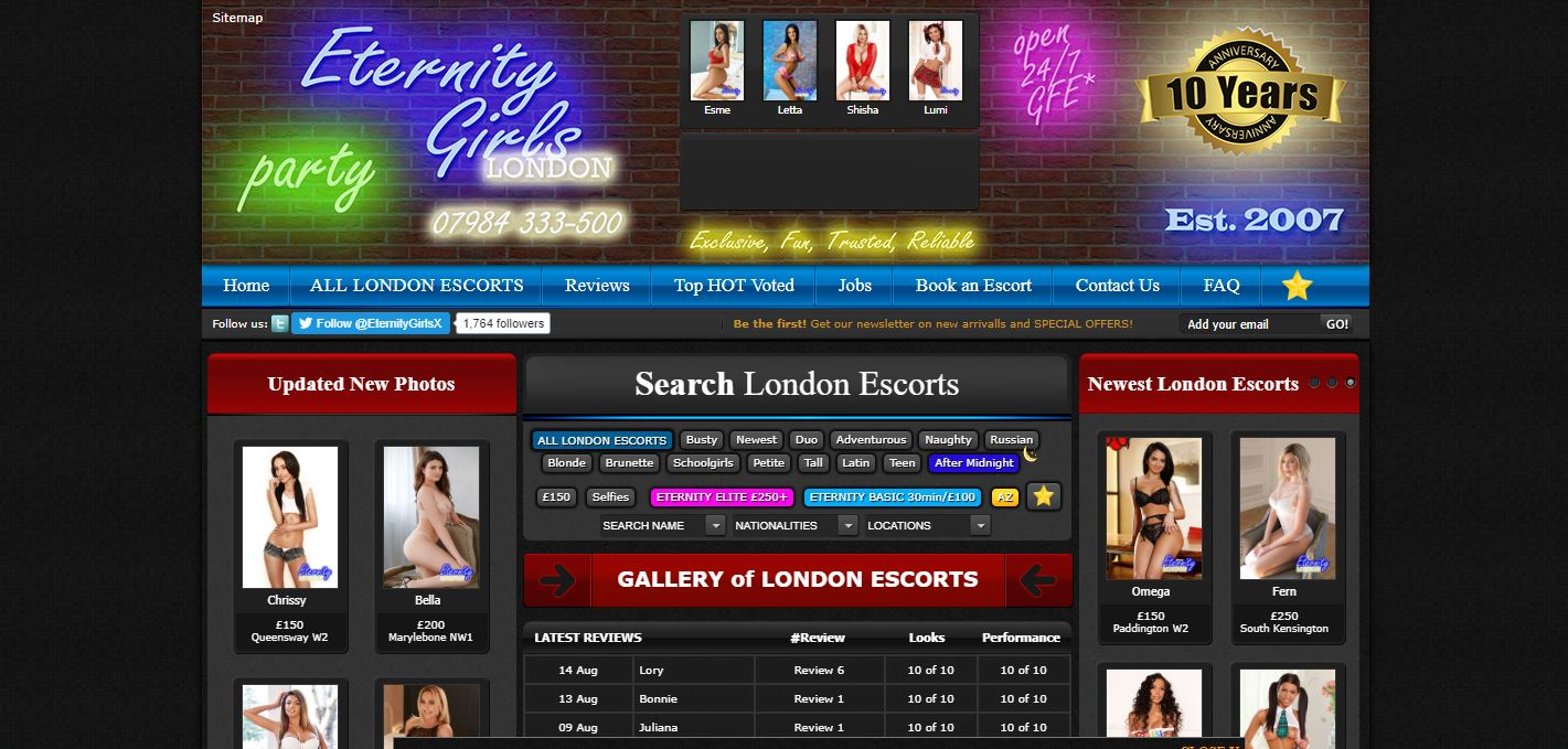 Eternity Girls Review homepage