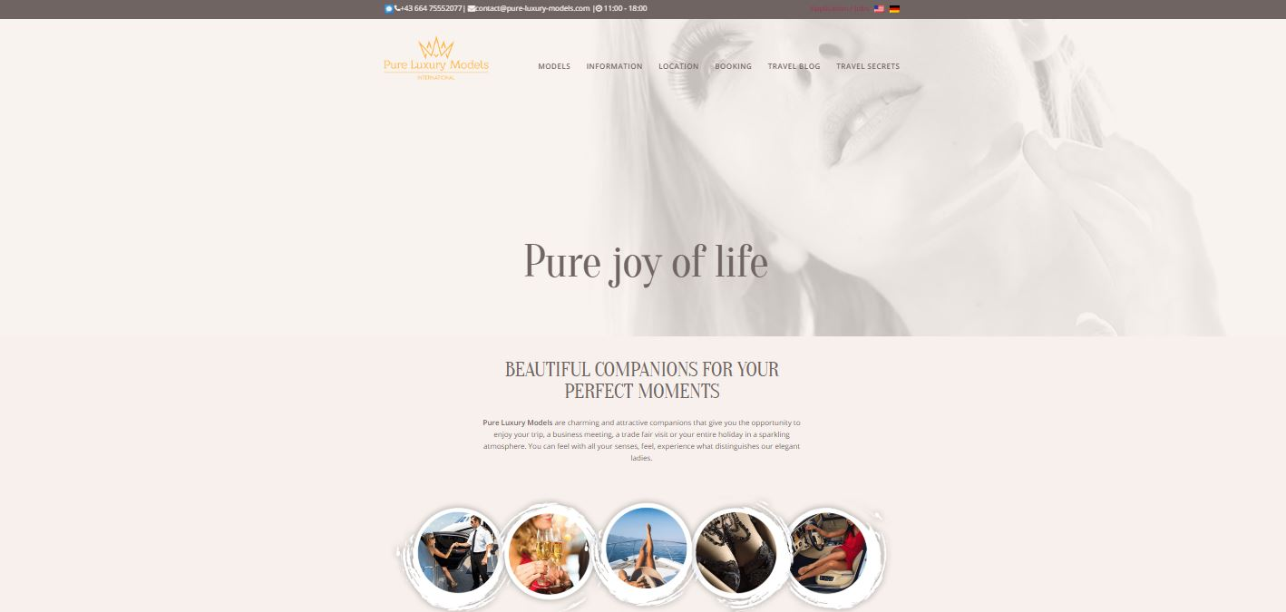 Pure-Luxury-Models.com review homepage