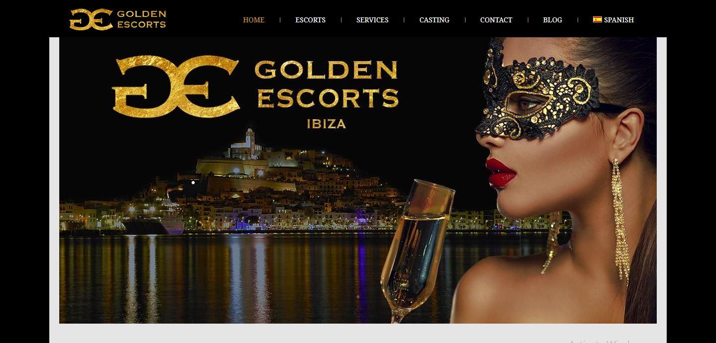 Golden Escorts Ibiza homepage