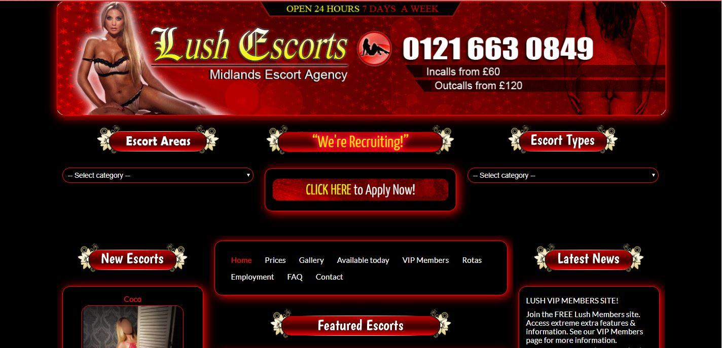 Lush Escorts Review homepage