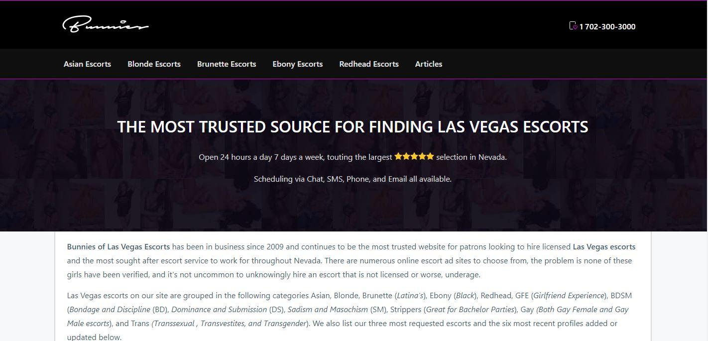 Bunnies of Las Vegas Review homepage