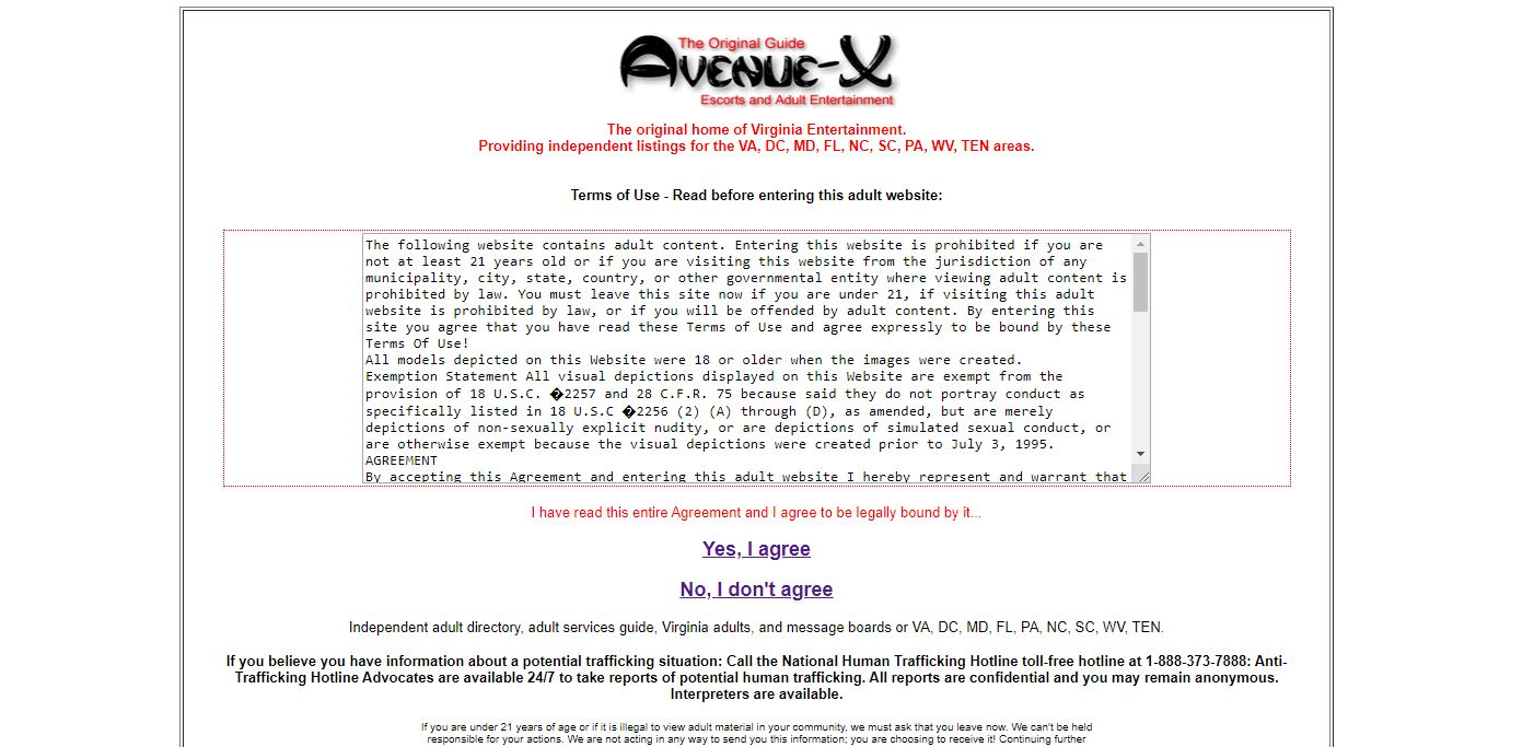 Avenue X review homepage