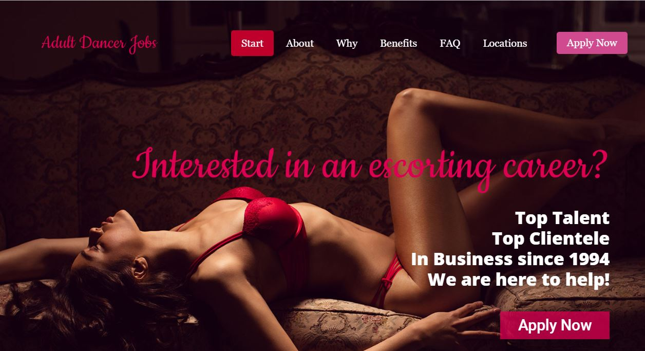 California Escort Services Review Adult Dancers homepage