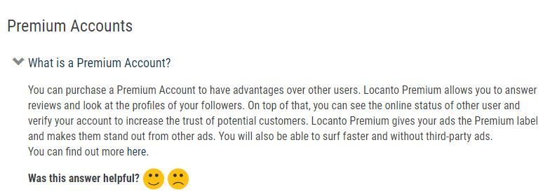 Locanto review premium account