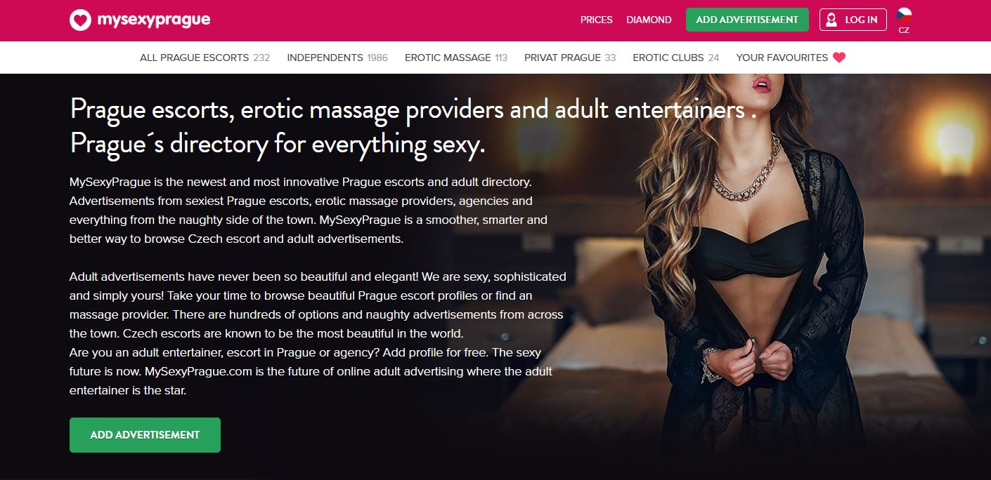 My Sexy Prague Escorts Review homepage