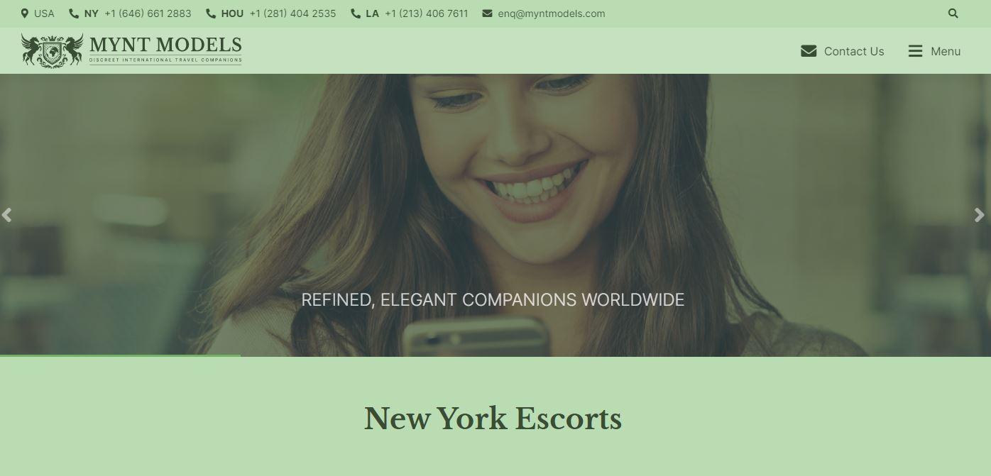 Mynt Models review homepage
