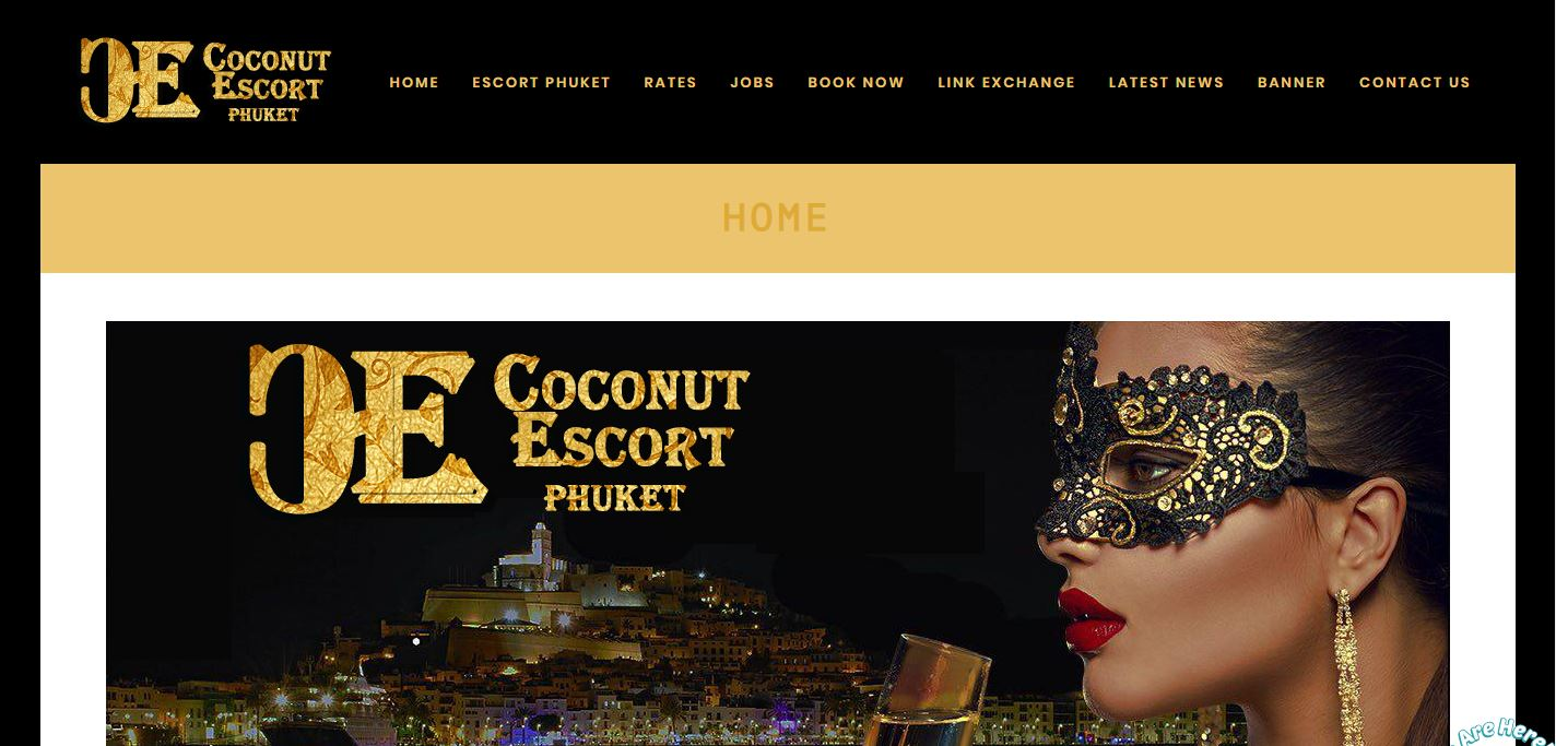 Coconut Escort review homepage screenshot