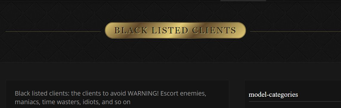 Luxury Escort Worldwide review black listed clients