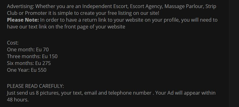 Luxury Escort Worldwide review model advertising