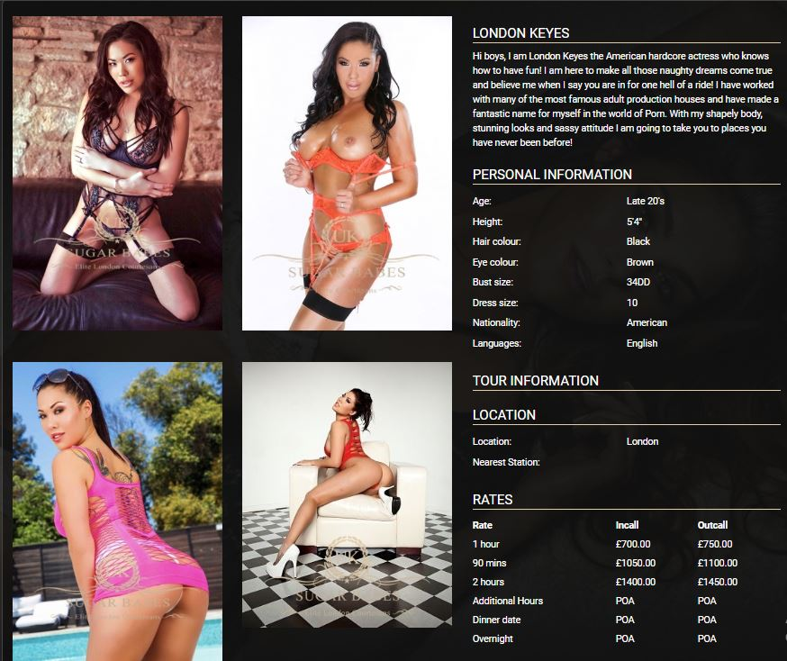 UK Sugar Babes review adult movie star rates